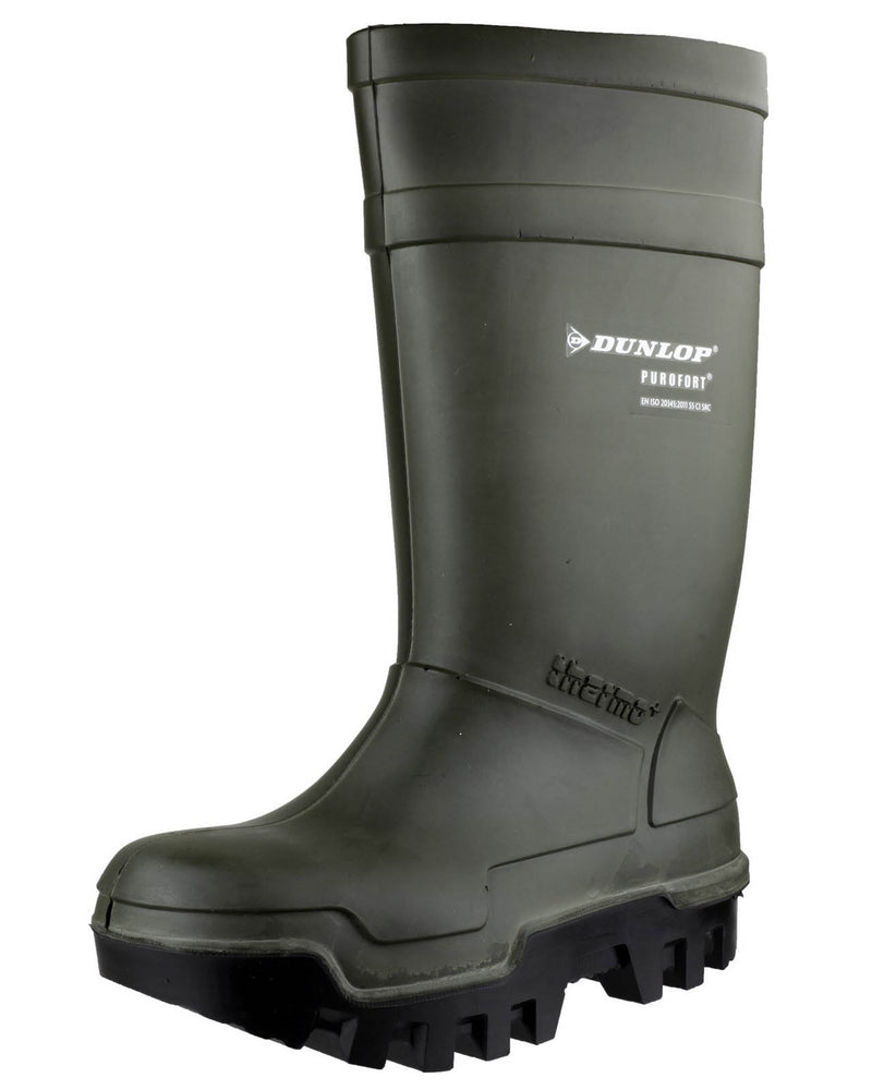 Dunlop Purofort Thermo+ Green Safety Wellington Boots