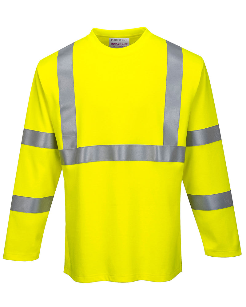 Portwest FR96 FR Hi-Vis Long Sleeve T-Shirt