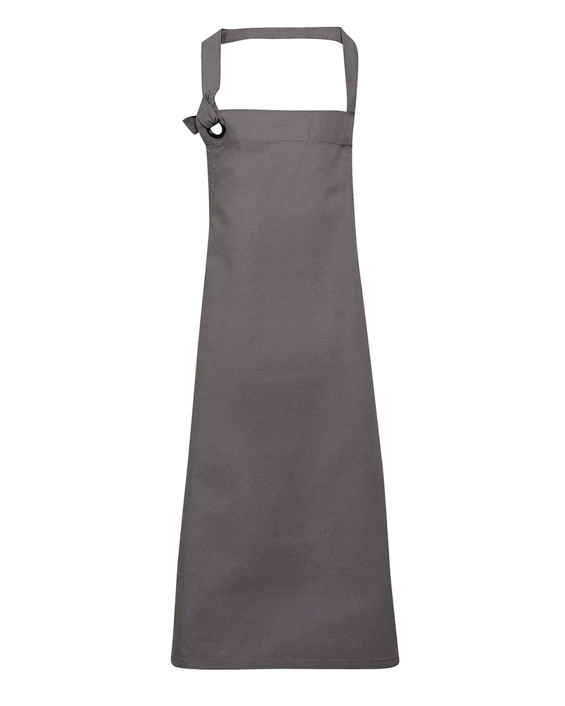 Premier PR130 Calibre Heavy Cotton Canvas Bib Apron - Dark Grey