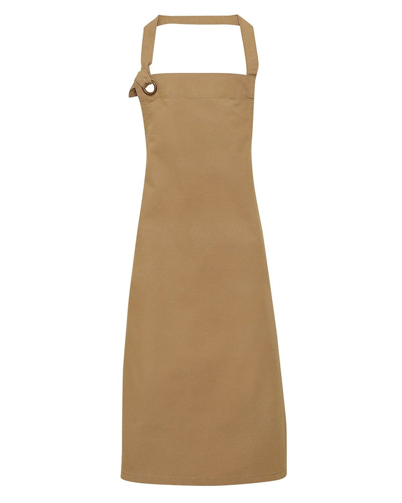 Premier PR130 Calibre Heavy Cotton Canvas Bib Apron - Khaki
