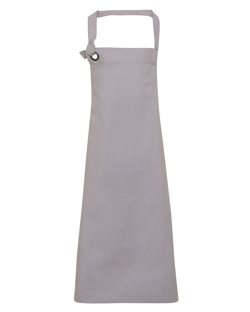 Premier PR130 Calibre Heavy Cotton Canvas Bib Apron - Silver