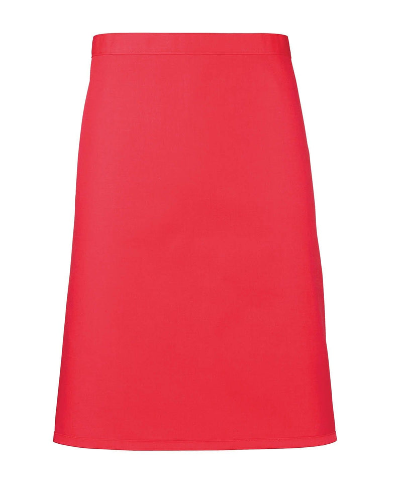Premier PR151 Mid-Length Apron - Strawberry Red