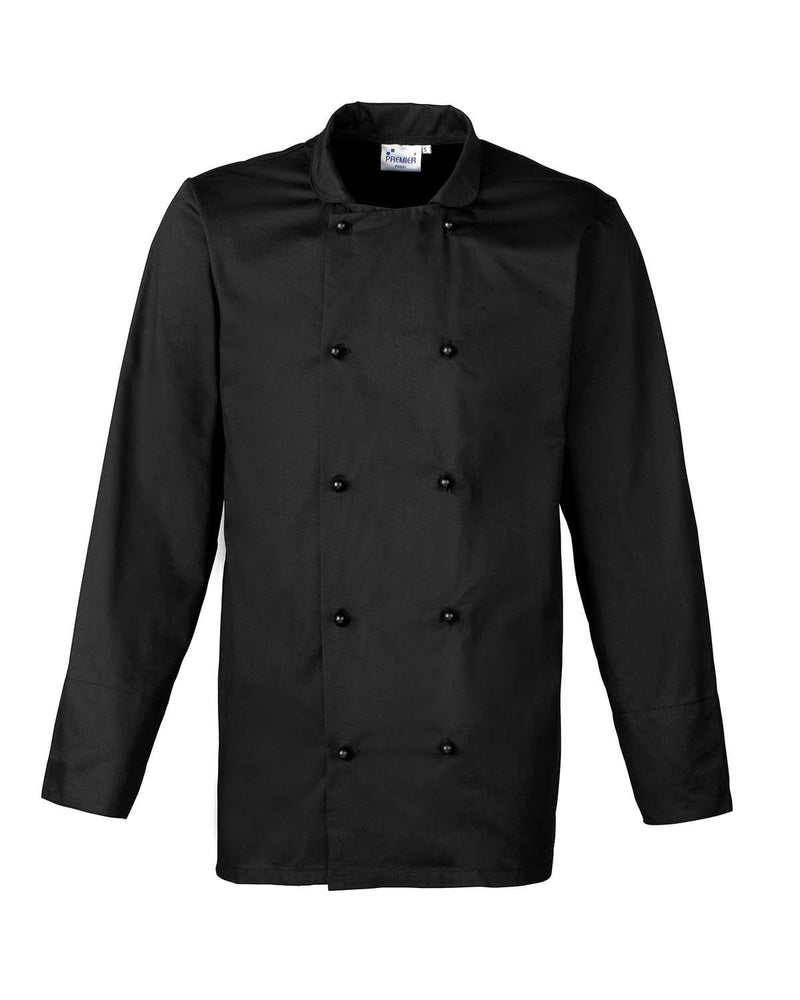 Premier PR661 Cuisine Long Sleeve Chefs Jacket - Black