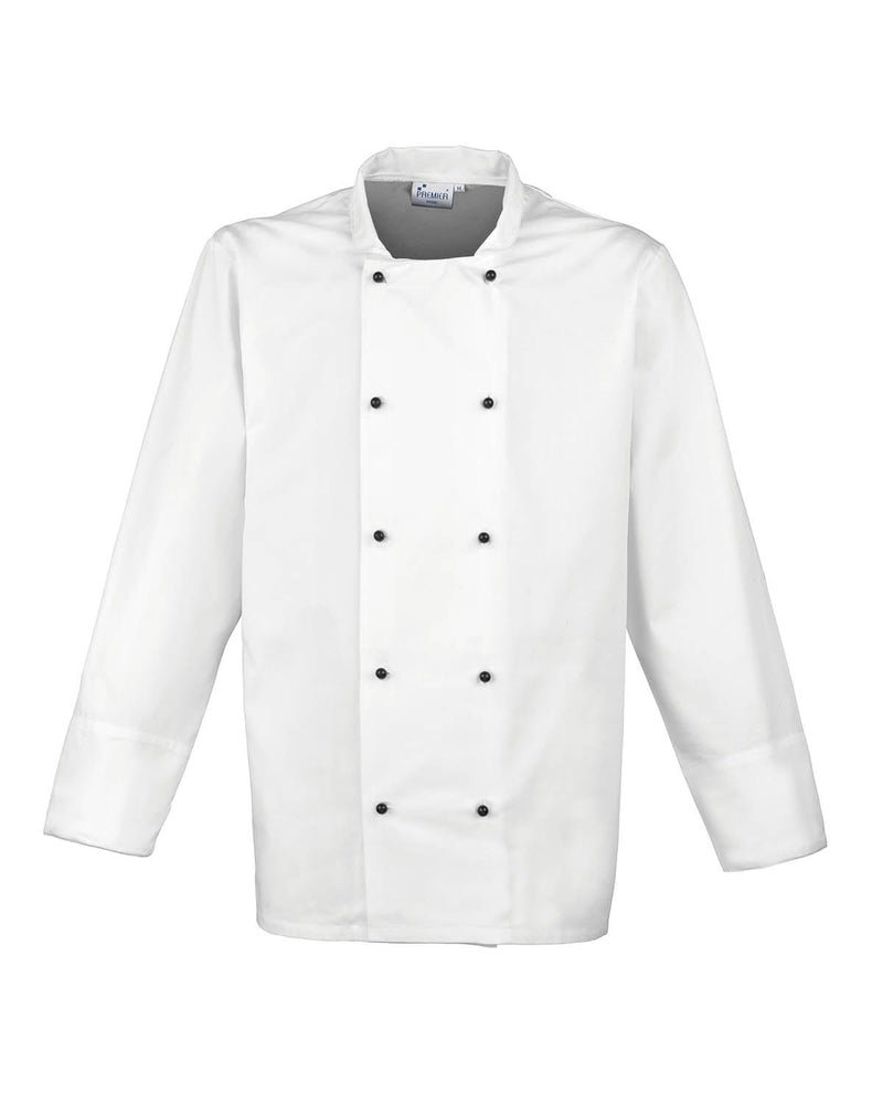 Premier PR661 Cuisine Long Sleeve Chefs Jacket - White