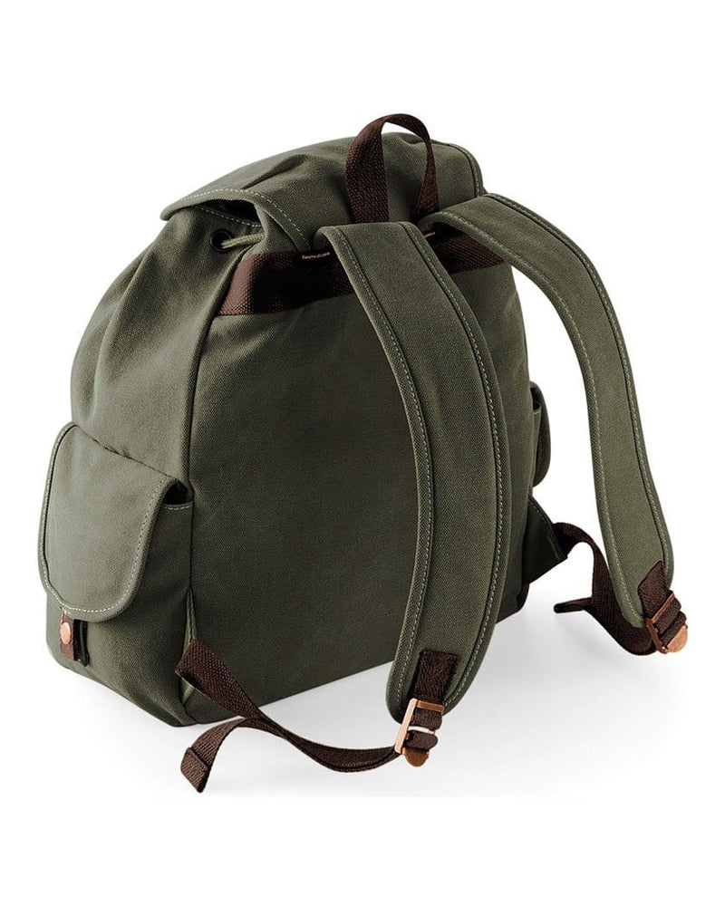 Quadra QD612 Vintage Canvas Backpack Rear