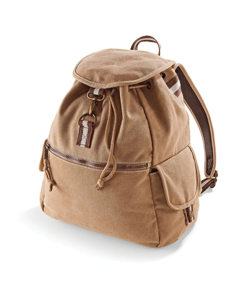 Quadra QD612 Vintage Canvas Backpack Sahara