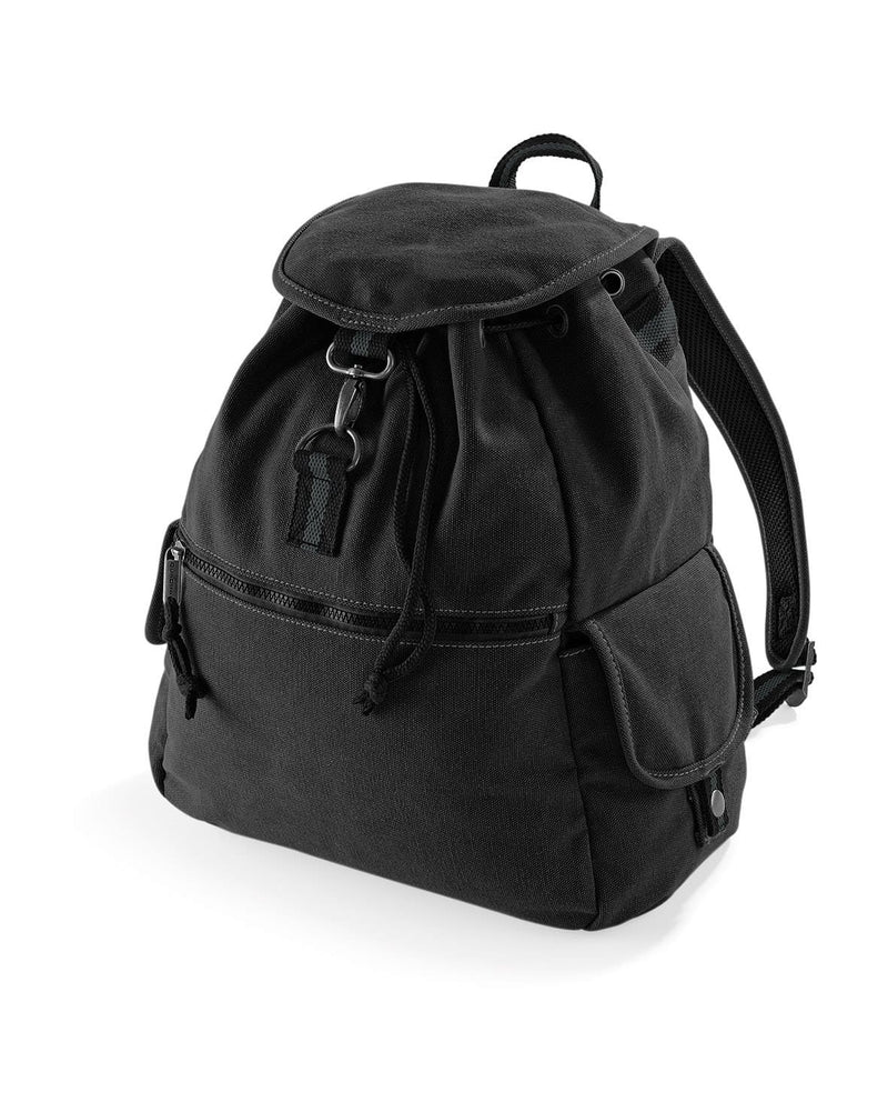 Quadra QD612 Vintage Canvas Backpack Black