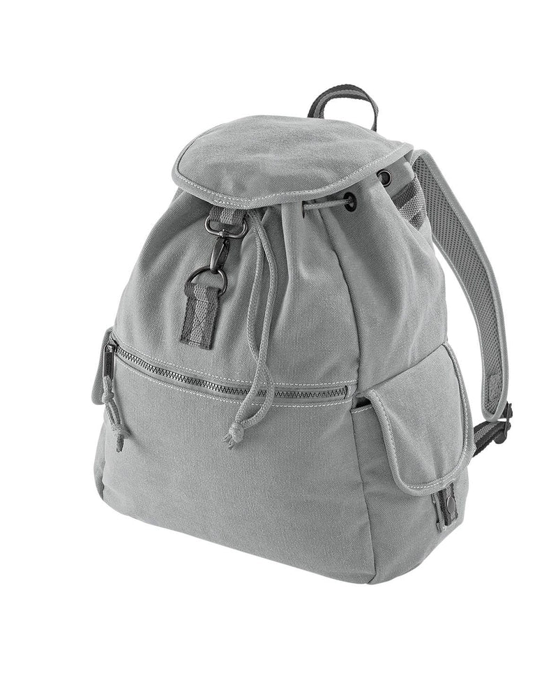 Quadra QD612 Vintage Canvas Backpack Grey