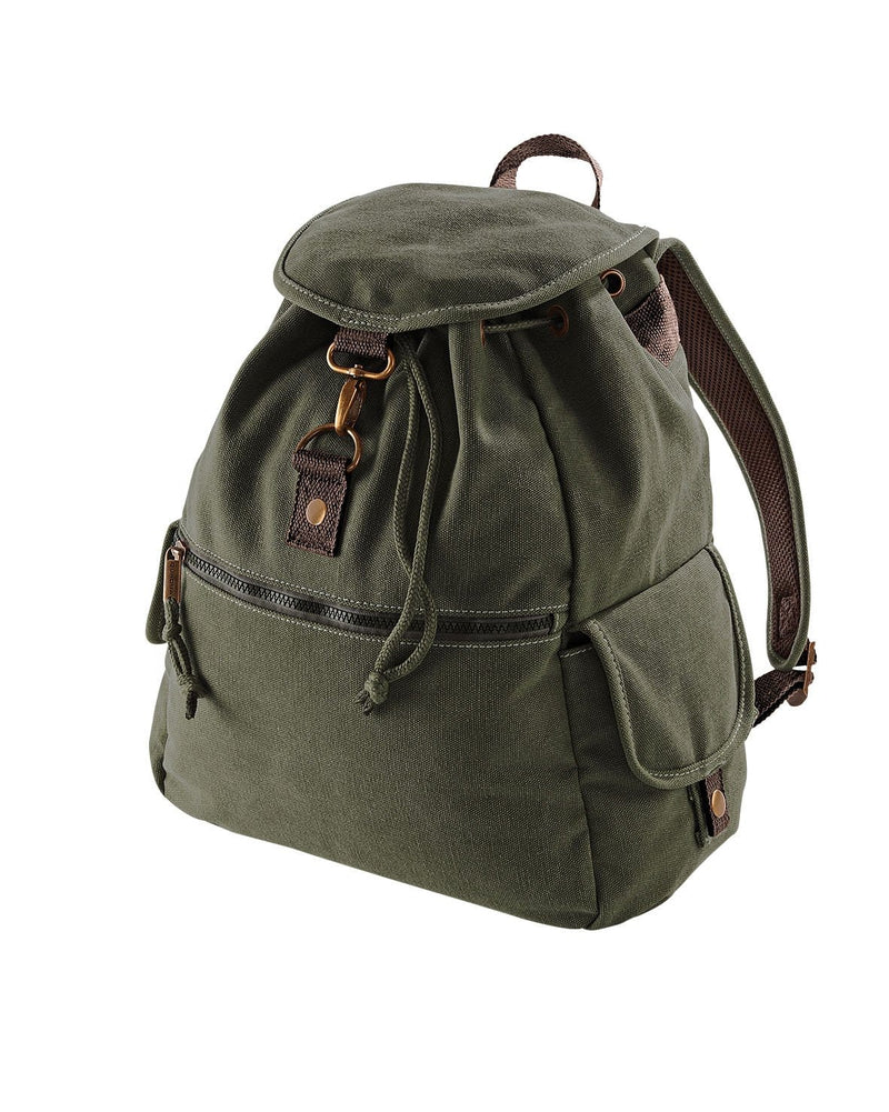 Quadra QD612 Vintage Canvas Backpack Green