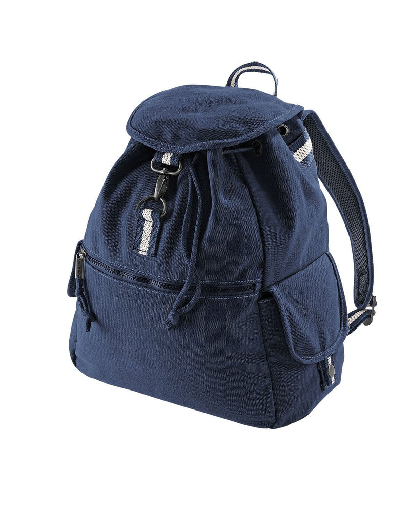 Quadra QD612 Vintage Canvas Backpack Navy