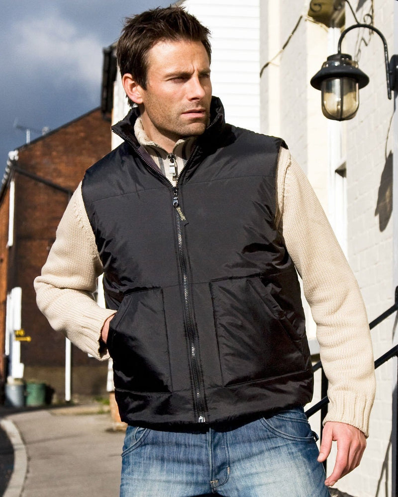 Result R44X Fleece Lined Black Bodywarmer - Model