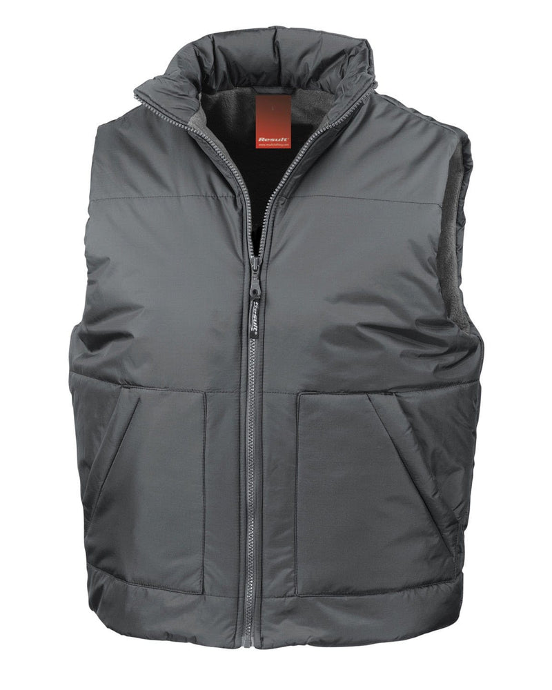 Result R44X Fleece Lined Grey Bodywarmer