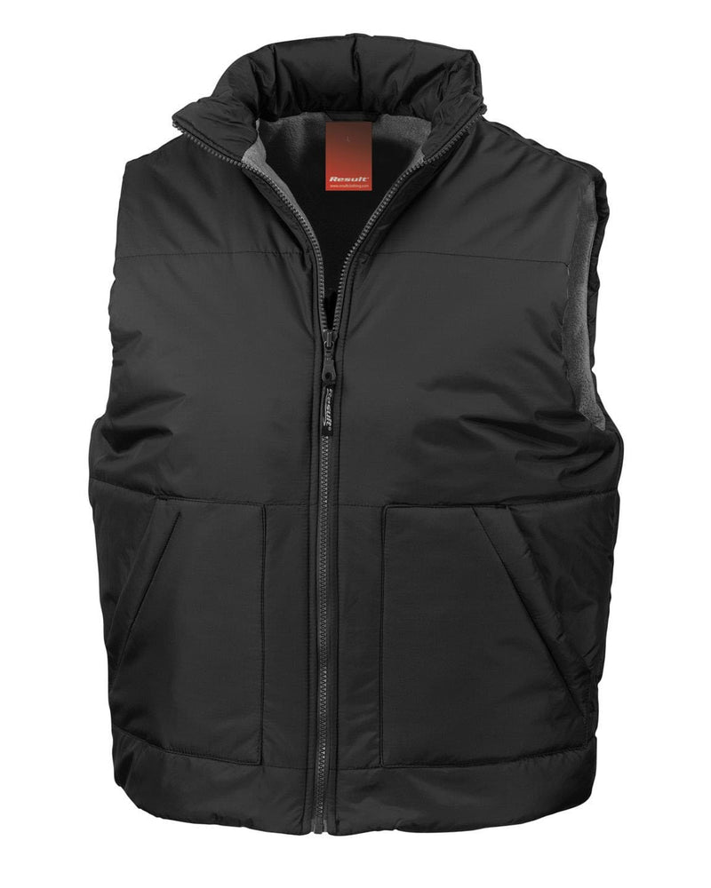 Result R44X Fleece Lined Black Bodywarmer