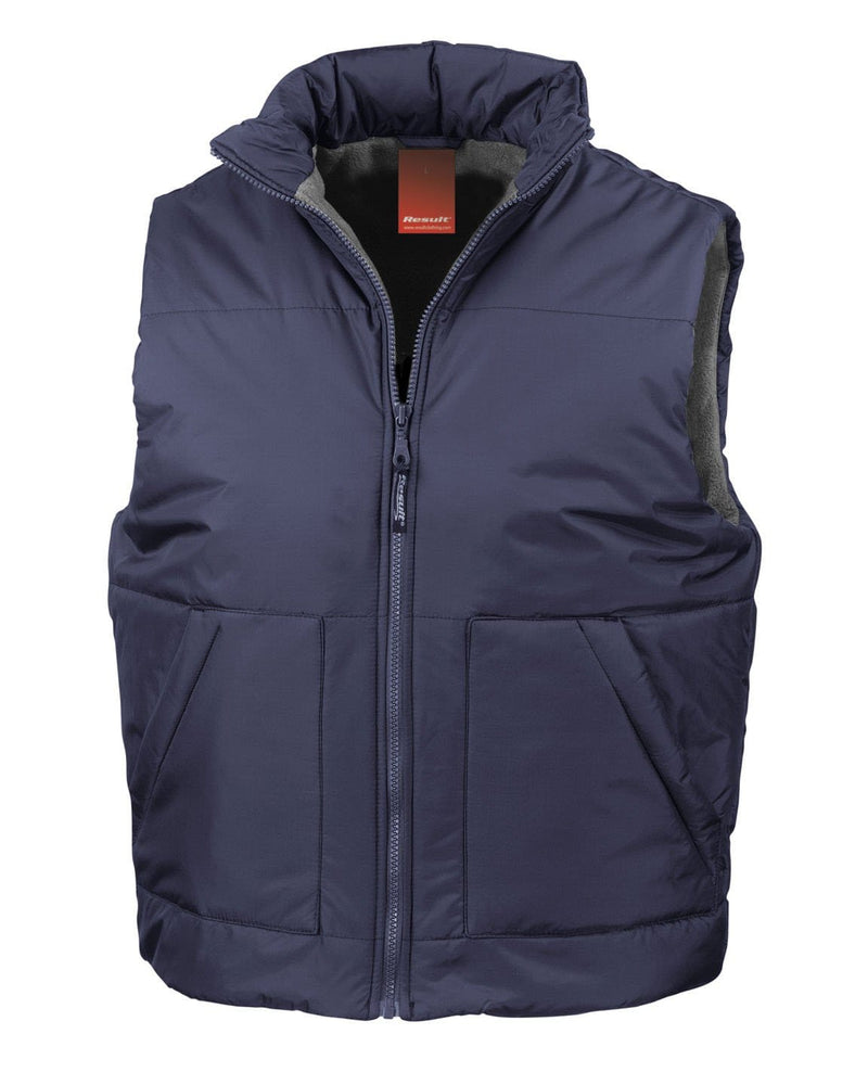 Result R44X Fleece Lined Navy Bodywarmer