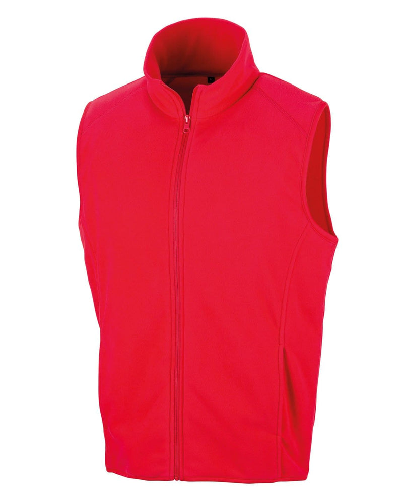 Result R116X Red Microfleece Gilet