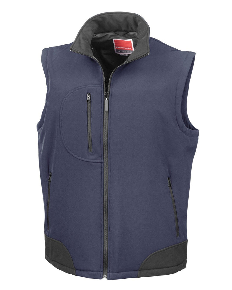 Result R123X Navy Softshell Bodywarmer