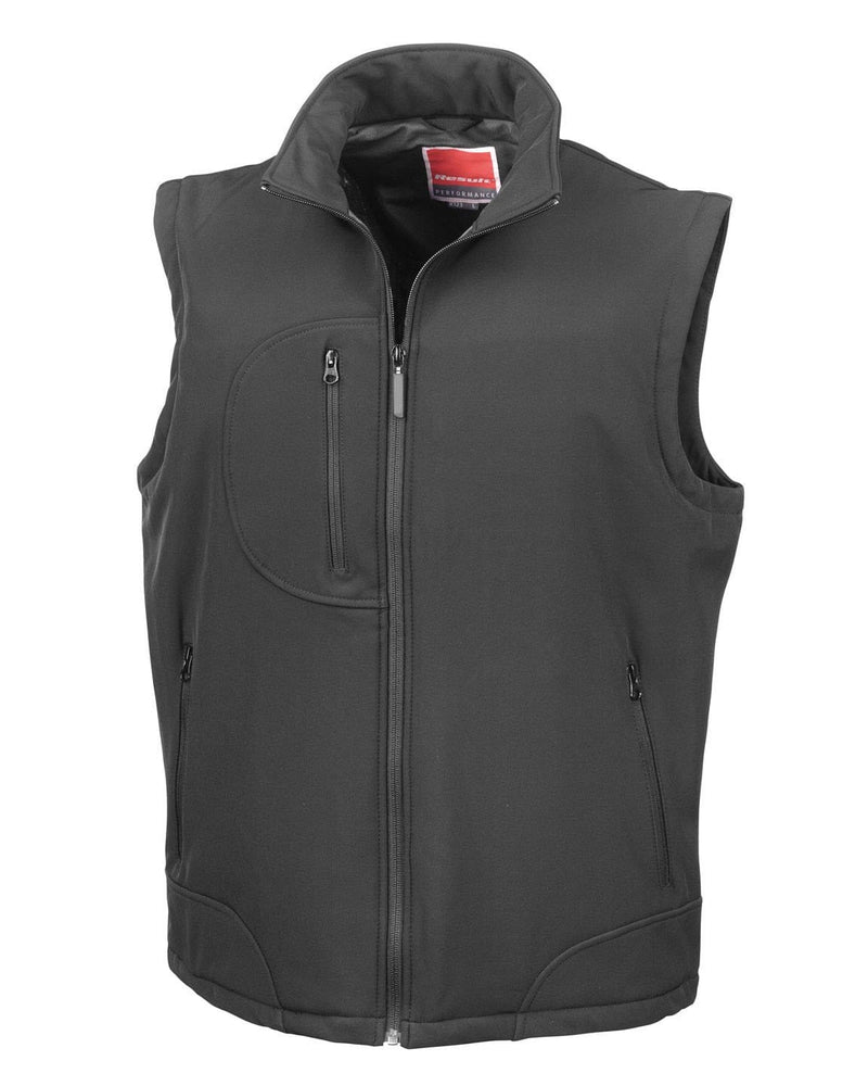 Result R123X Black Softshell Bodywarmer