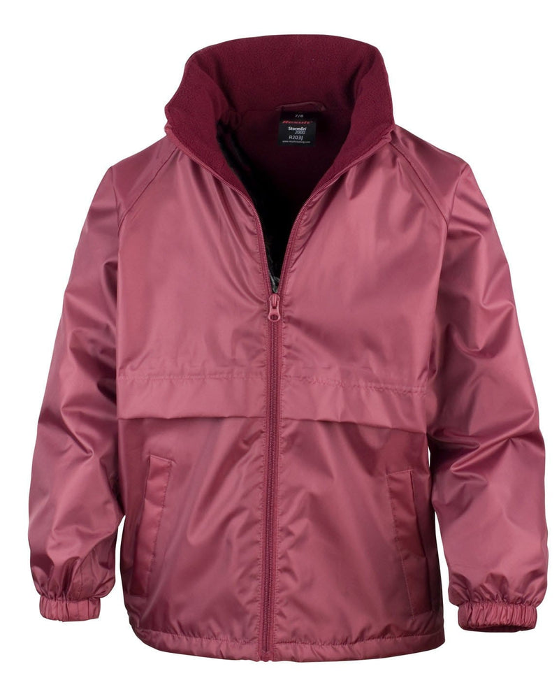 Result R203JY Childrens Burgundy Waterproof Fleece Jacket
