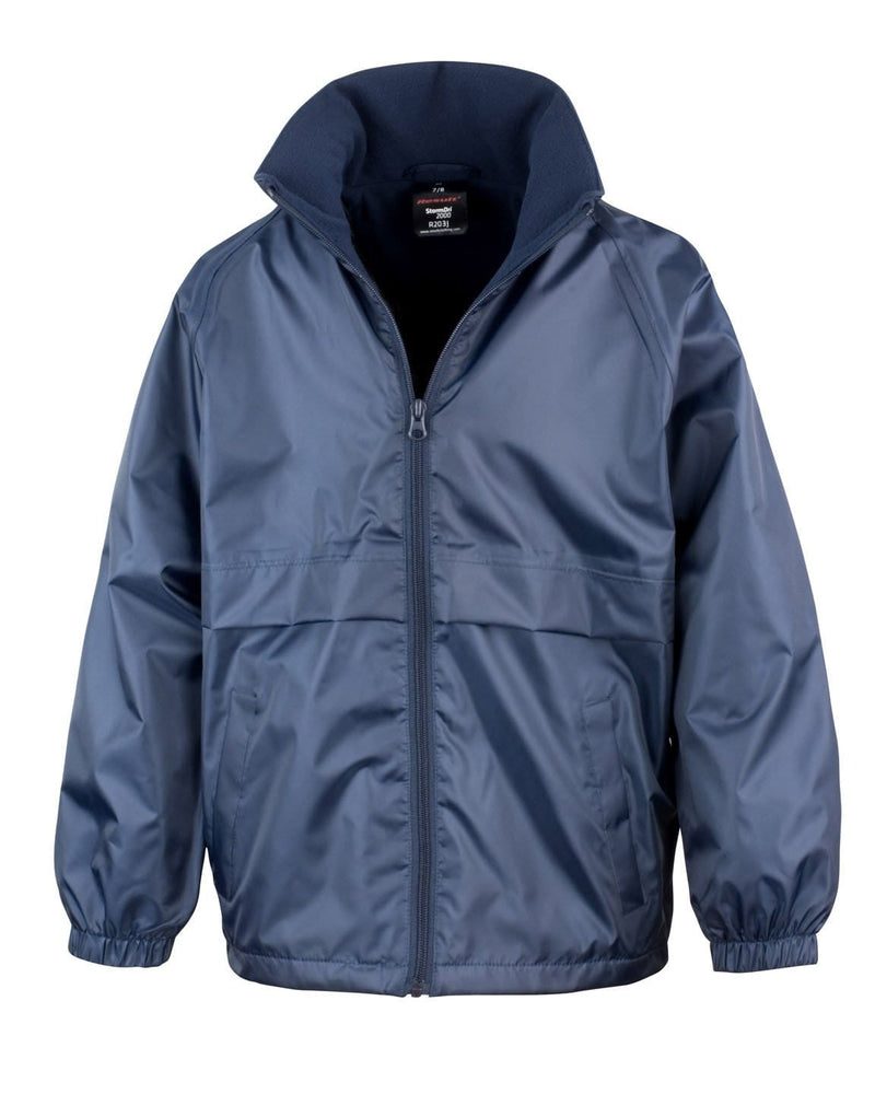 Result R203JY Childrens Navy Waterproof Fleece Jacket