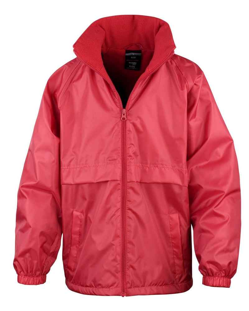 Result R203JY Childrens Red Waterproof Fleece Jacket