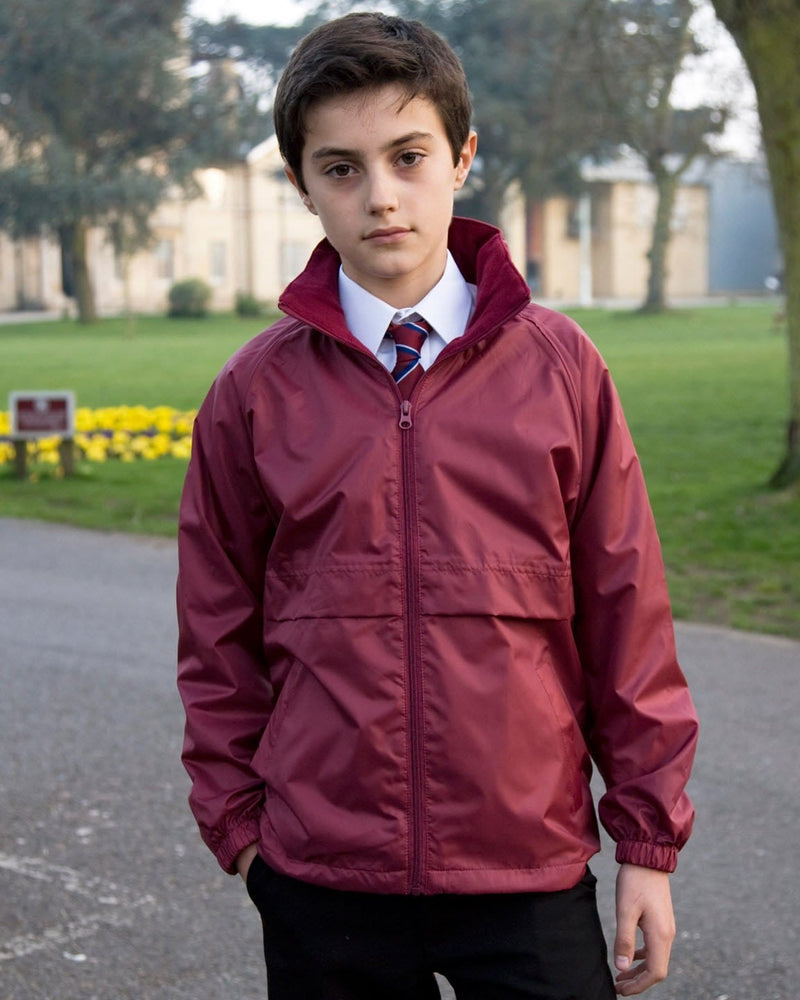 Result R203JY Childrens Burgundy Waterproof Fleece Jacket Model
