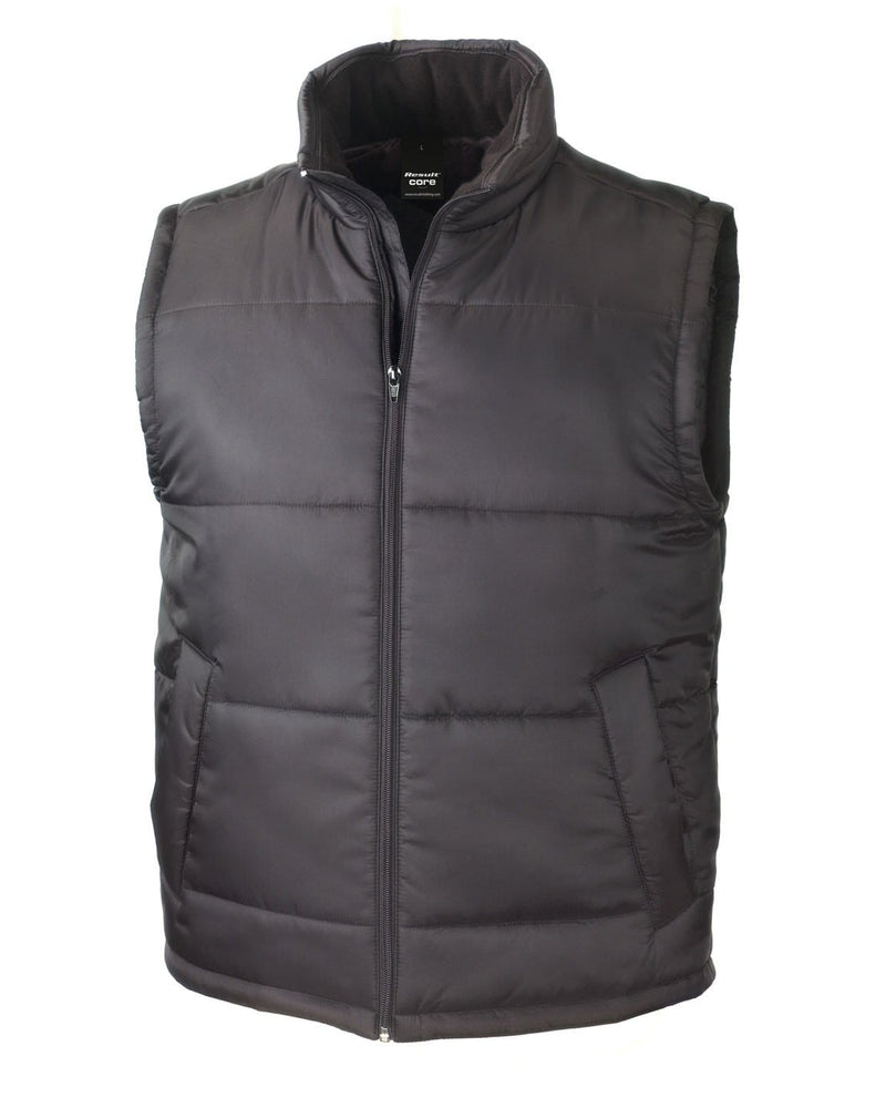 Result R208X Black Bodywarmer Jacket