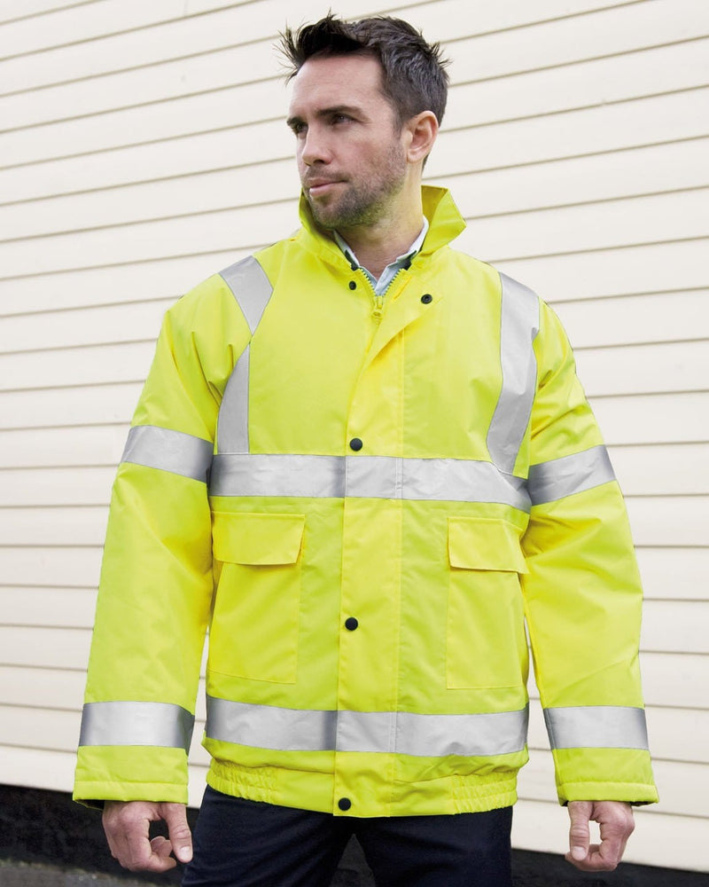 Result R217X Winter Bomber Yellow Viz Jacket Male Model