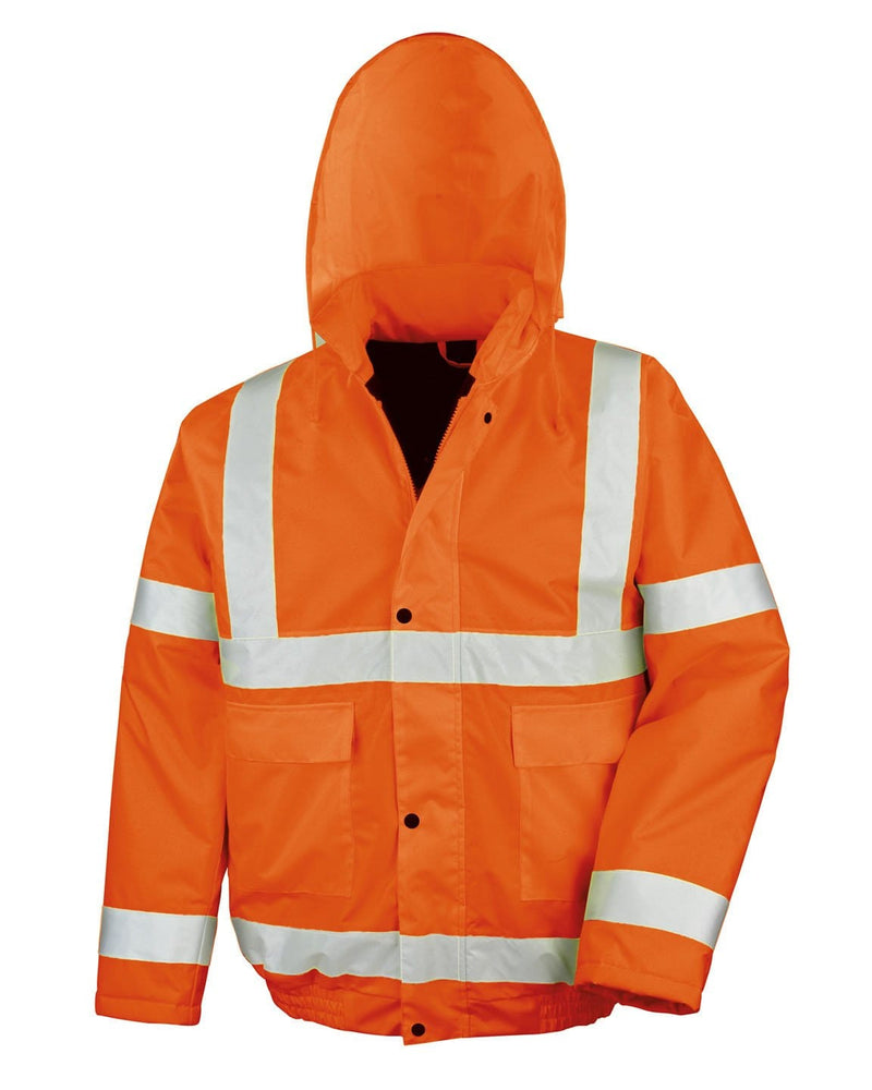 Result R217X Winter Bomber Orange Hi Viz Jacket