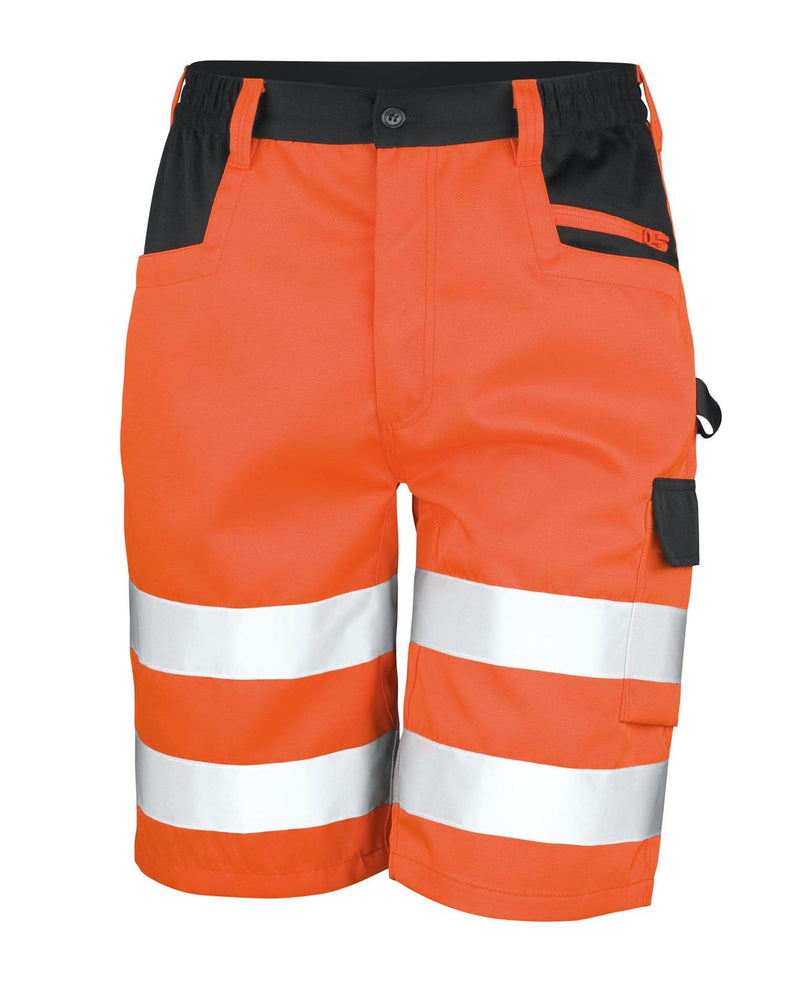 Result R328X Hi Vis Orange Cargo Shorts