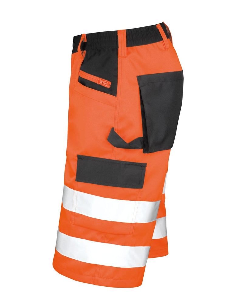 Result R328X Hi Vis Orange Cargo Shorts Side