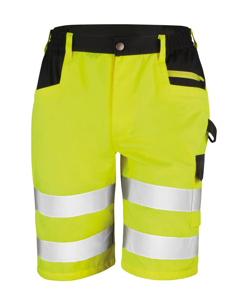 Result R328X Hi Vis Yellow Cargo Shorts