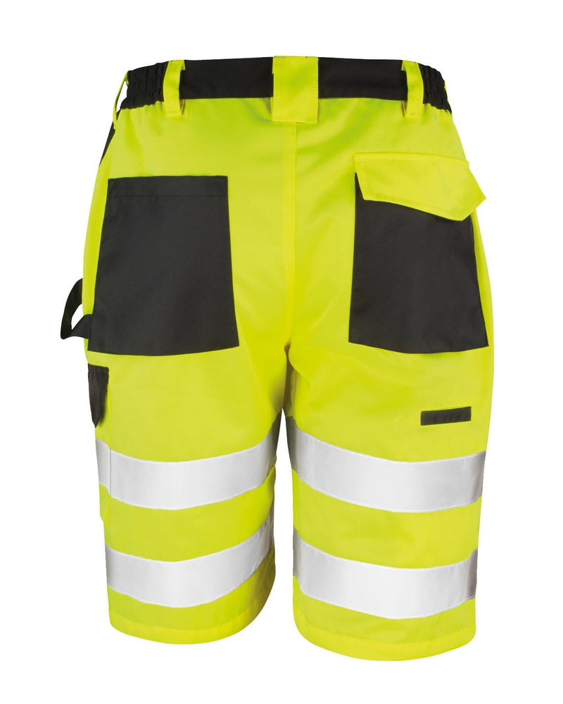 Result R328X Hi Vis Yellow Cargo Shorts Rear