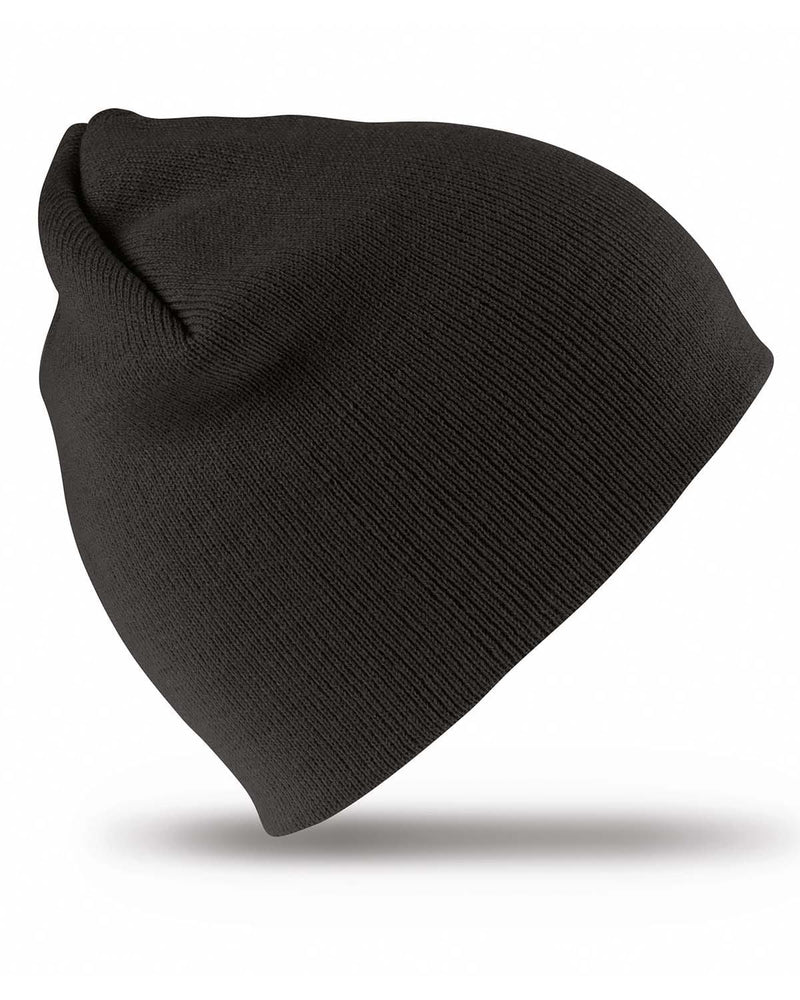 Result RC44 Pull On Soft Feel Beanie Hat - Black
