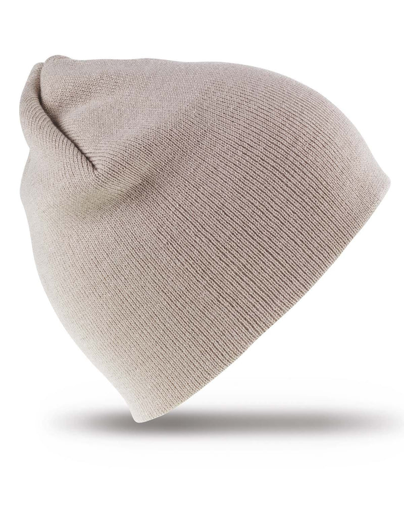 Result RC44 Pull On Soft Feel Beanie Hat - Stone
