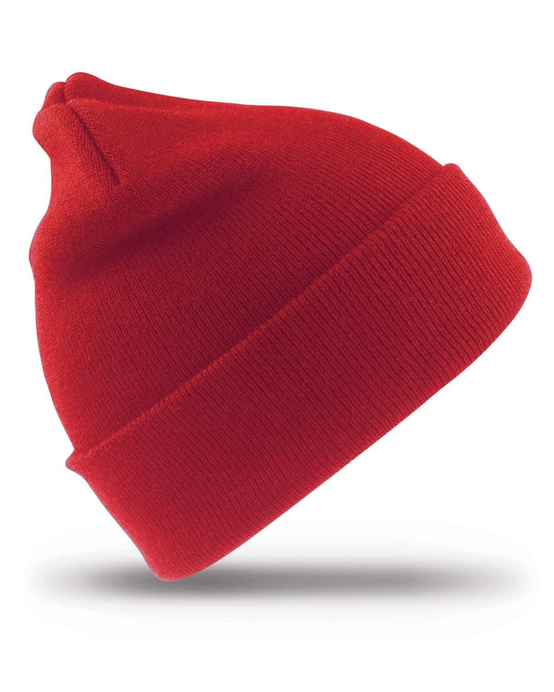 Result RC29J Junior Woolly Ski Beanie Hat - Red