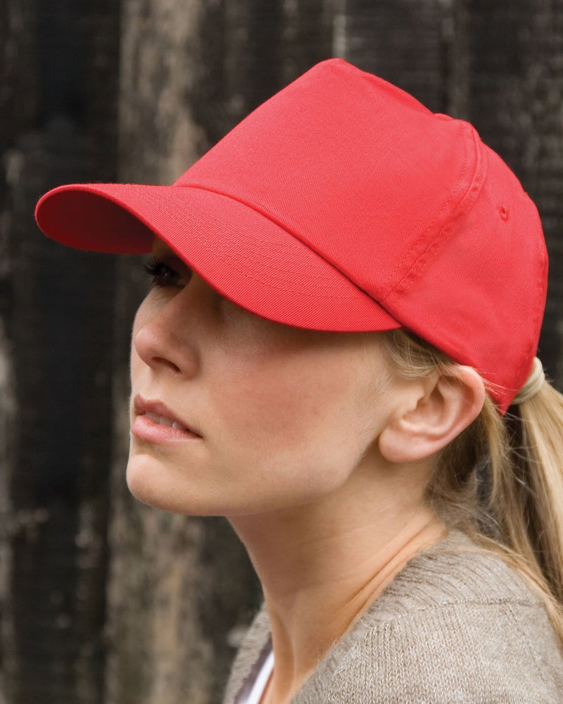 Result RC05 Red Cotton Cap Female Model