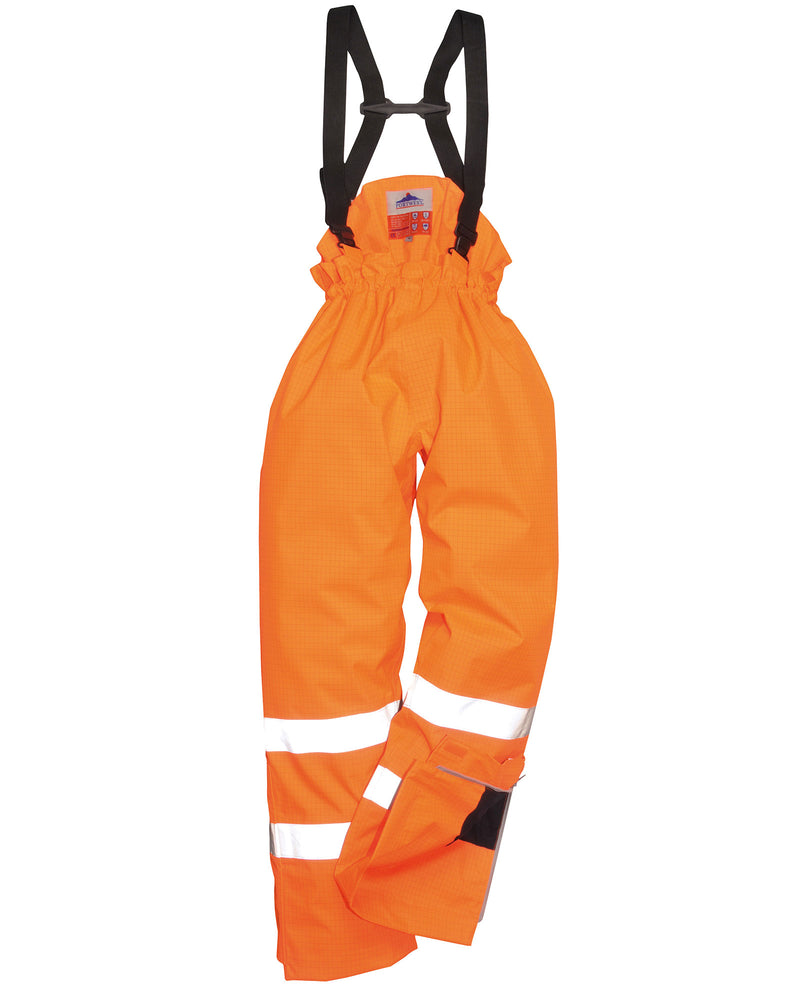 Portwest S781 Bizflame Rain Lined Hi-Vis Antistatic FR Trousers