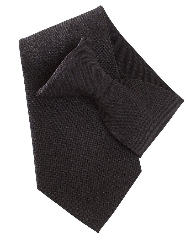 Yoko CT01 Clip on tie black