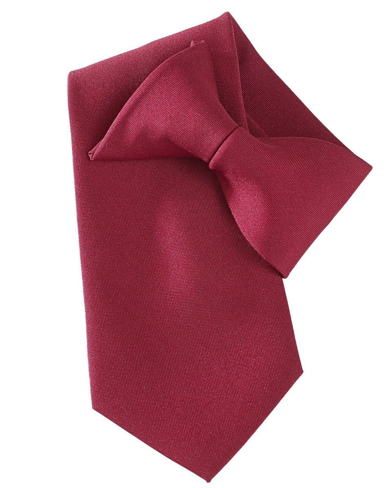 Yoko CT01 Clip on tie burgundy