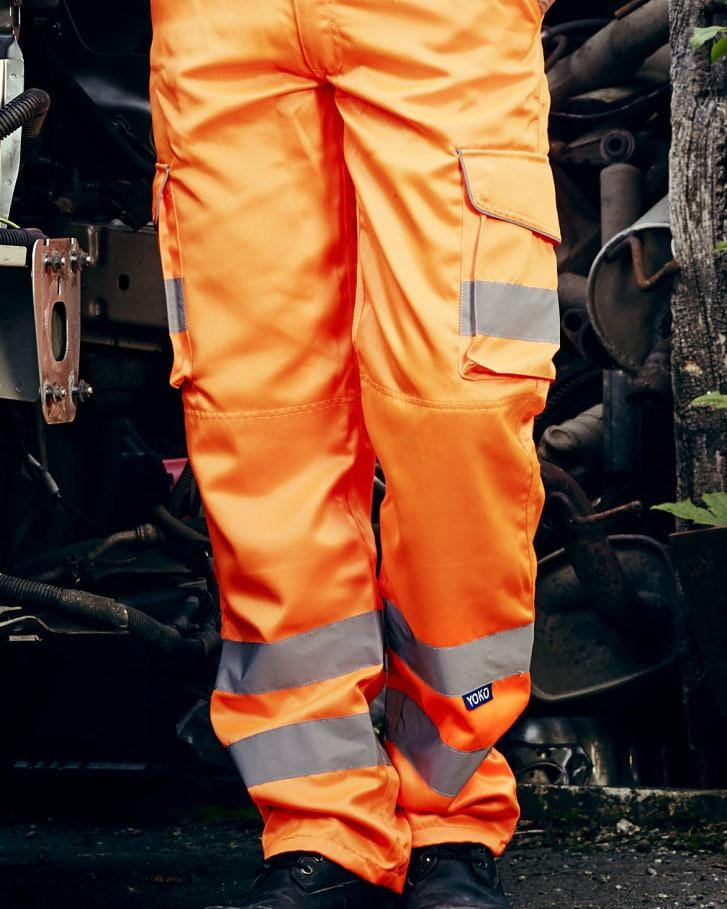 Yoko HV018T Hi Vis Cargo Trousers Model
