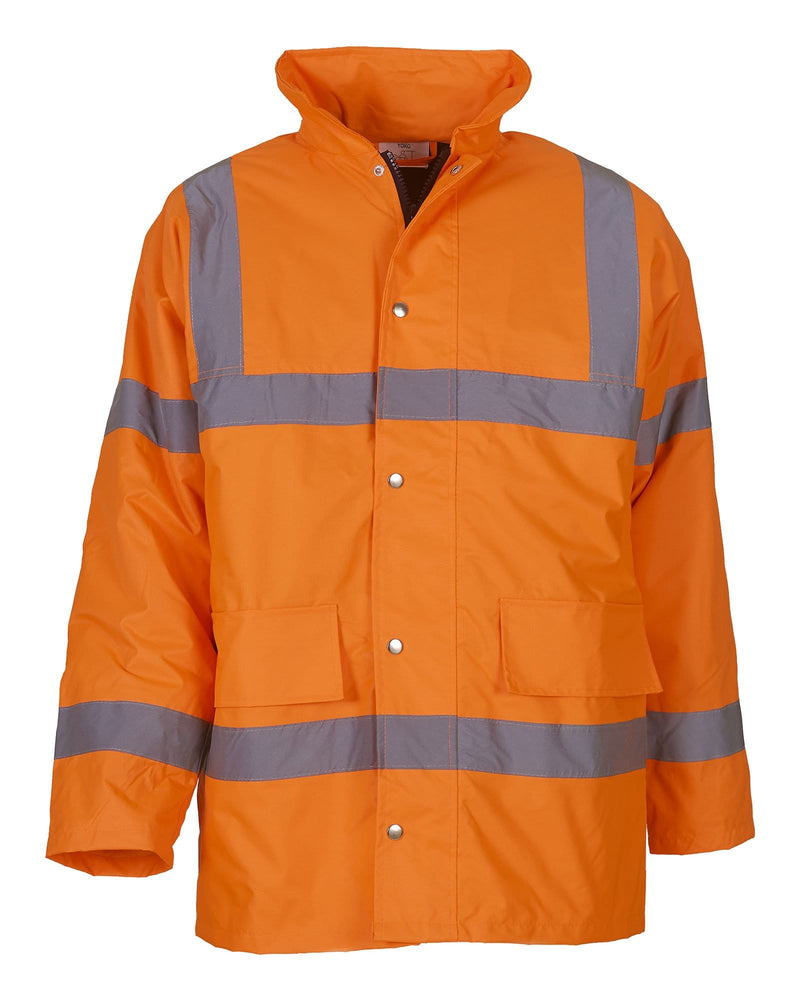 Yoko HVP300 Classic Hi Vis Orange Motorway Jacket