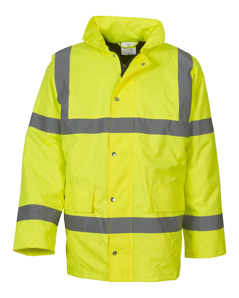 Yoko HVP300 Classic Hi Vis Yellow Motorway Jacket