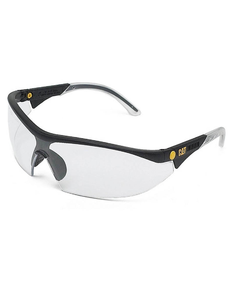 Caterpillar Digger Semi Rimless Clear Lens Safety Specs