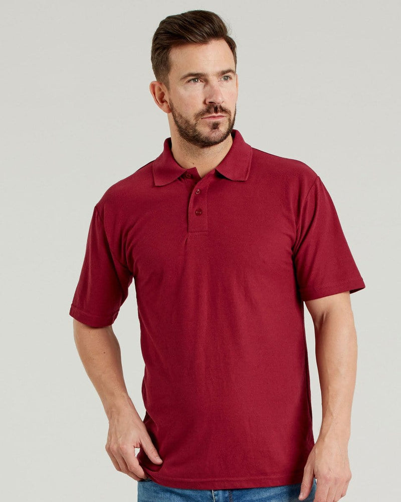 Ultimate UCC003 Mens Burgundy Pique Polo Shirt