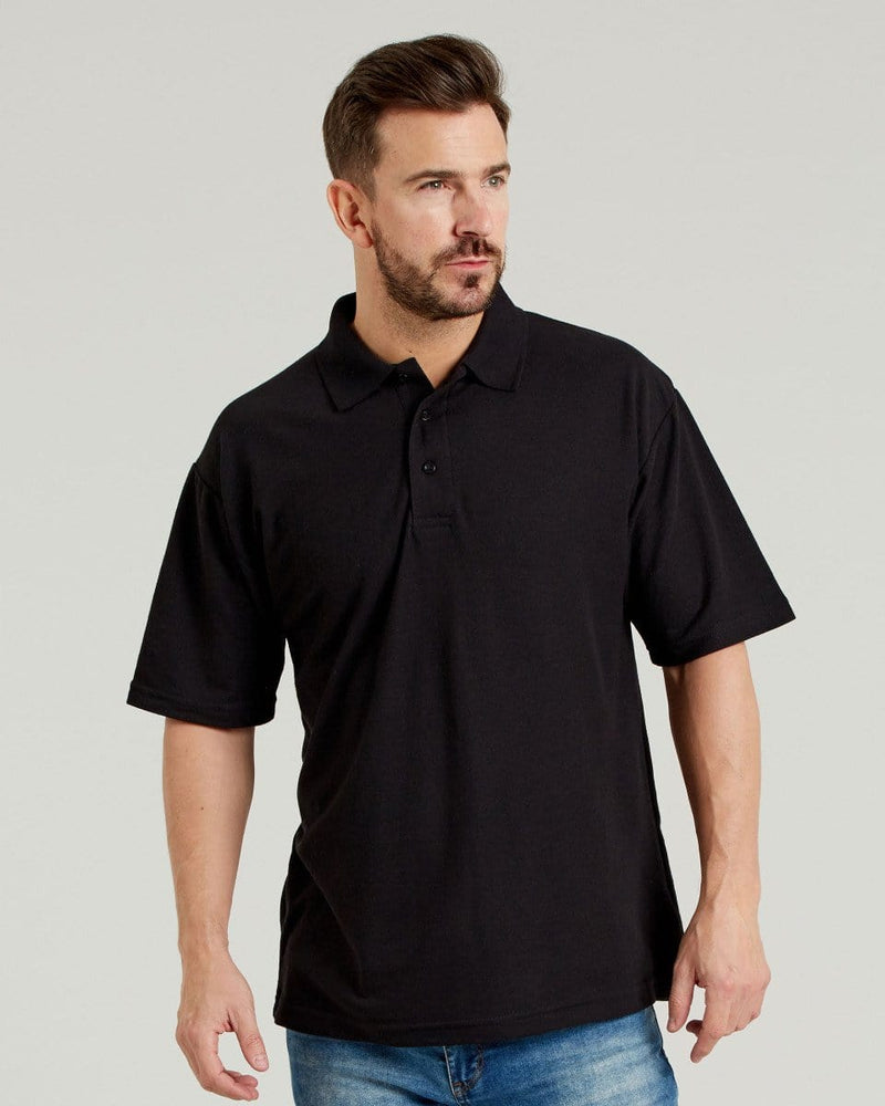 Ultimate UCC003 Mens Black Pique Polo Shirt