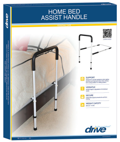 Drive Medical Adjustable Height Home Bed Assist Handle