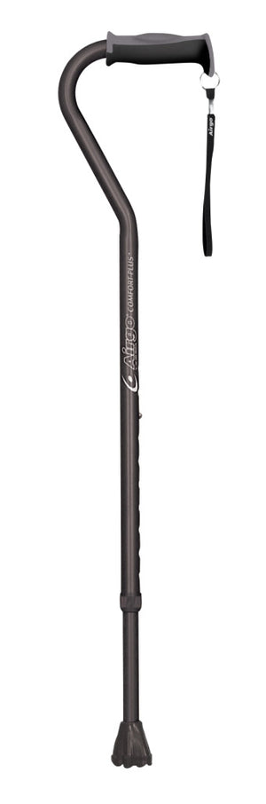 Drive Medical Airgo Comfort-Plus Aluminum Cane, Offset Handle