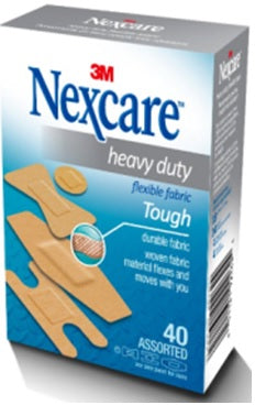 Nexcare™ Heavy Duty Fabric Bandages, Assorted Sizes
