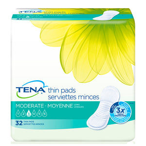TENA® Moderate Long Thin Pads for Women