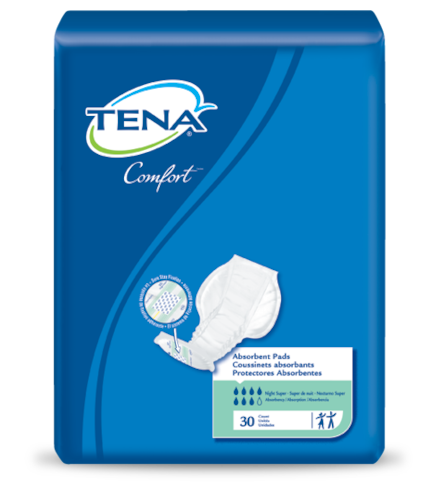 TENA® Comfort™ Night Super Pad - Unisex